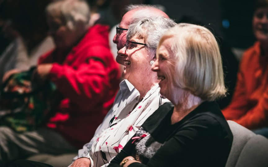 Older people at a service