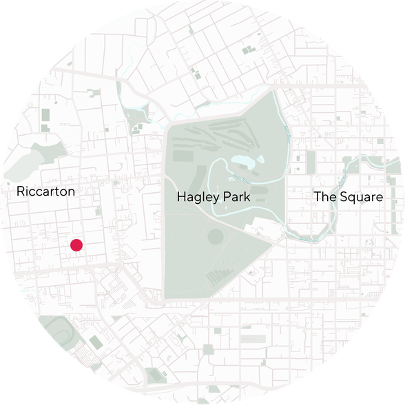 Map depicting Church West of Hagley Park