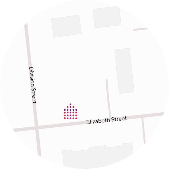 Map depicting parking on Church premises
